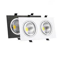 Heldere LED Dimbare COB Downlight 14 W 18 W 24 W 30 W Vierkante 2 Heads Plafond Inbouwspot Indoor verlichting Home Decor AC85-265V