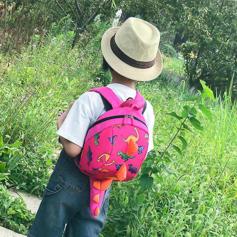 Dinossauro das Crianças Sacos Para Meninos Meninas Anti-lost 2-5 Anos de Idade Do Bebê do jardim de Infância Mochila de Viagem Entre Pais e filhos -Brinquedo Mochila criança