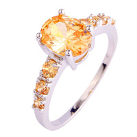 Wholesale Gift Colorful Cute Morganite 925 Silver Ring Women Fashion Party Jewelry Size 6 7 8 9 10 11 12 13 Free Shipping