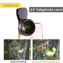 Ulanzi HD Telephoto Phone Lens 2X Telescope Portrait Lenses with Universal Clip for iPhone X 8 7 Plus Android Smartphone
