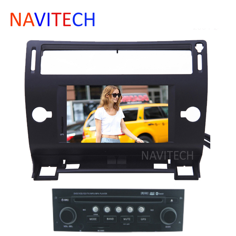 Black/silver/grey color autoradio CITROEN C4 CAR DVD player GPS Navigation BLUETOOTH AUTO RADIO IPOD SWC 2004-2009-2012 - NAVITECH Store store