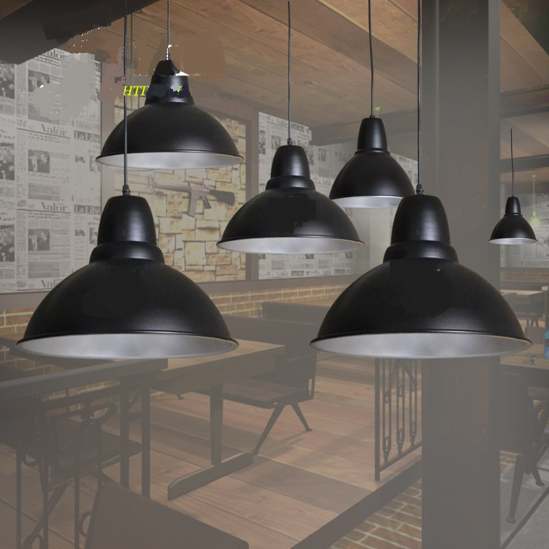 Black mining lamp office lamp shade plant factory shops Lights and cafes Hall studio lights Pendant Lights