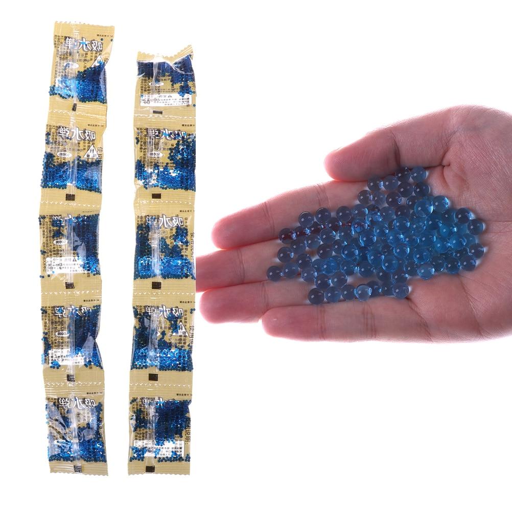 Constructive 6-7mm Blue Crystal Bullet Soft Water Gun Bullet Bibulous Bullet Orbeez Gun Toy Accessories Fit Electrified Pistol 10 Bags/pack Toy Guns