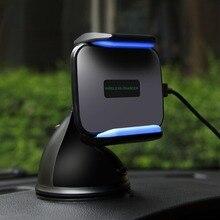 Qi Padrão Sem Fio do Carregador Do Telefone Do Carro Titular Para o iphone X 8 8 Plus para Samsung S6 S7 S8 S9 Mais Note8 Telefone Qi Carregador de Carro Rápido titular