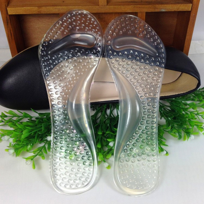 The new 3/4 Gel Lady Insoles Massaging High Heel Protector For Women Shoes Arch Support Orthopedics Feet Care 2 pairs lot gel massage 3 4 insoles women high heel insoles plantillas de calzado orthopedic insoles arch support feet care