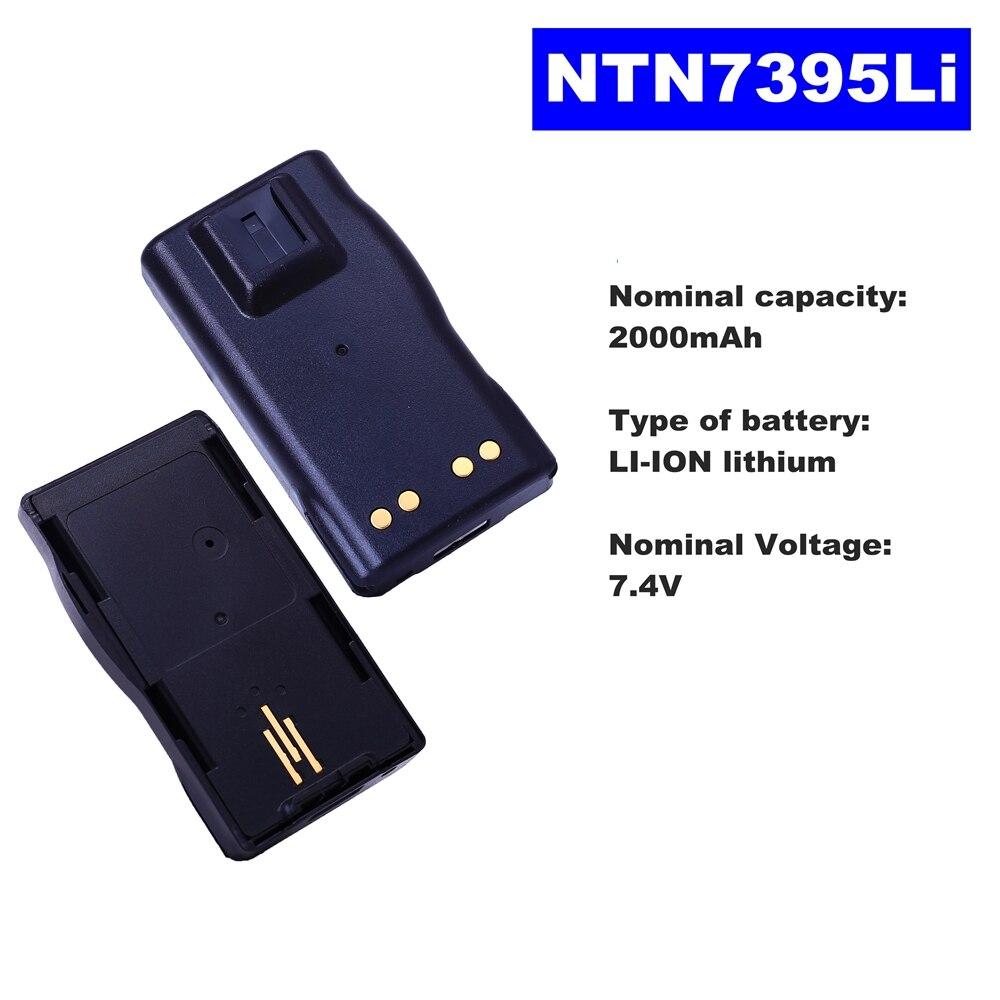 7.4V 2000mAh LI-ION Radio Battery NTN7395Li For Motorola Walkie Talkie VISAR Two Way Radio