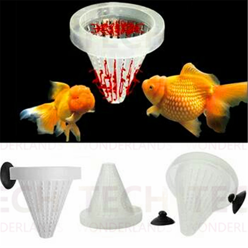 1 pcs fish food basket cone feeder live worm bloodworm for Live fish basket