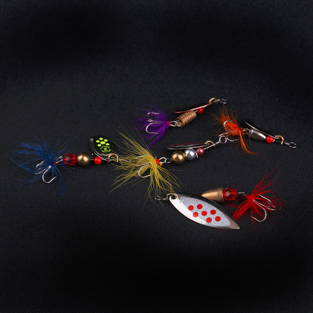 Mix Style 5 Pcs Fishing Lures Wobble Slow Fishing Lifelike Tackle Bait Rapid Diving Action Fishing Product For Fishing Lovers