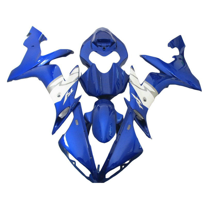 Injection molded for YAMAHA R1 fairing kit 04 05 06 YZF1000 blue 2005 2004 2006 YZF R1 fairings xl01 compression mold fairing kit for yzfr1 04 05 06 yzf r1 2004 2005 2006 yzf1000 cool blue black fairings set 7gifts yn14
