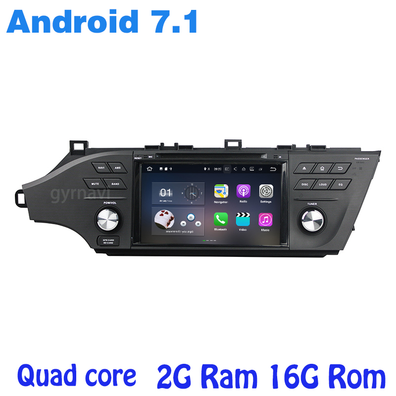 Android 7 1 Quad core font b Car b font dvd gps player for toyota Avalon