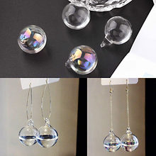 DIY accessories, accessories, materials, crystal, transparent glass, water polo earrings, earrings.