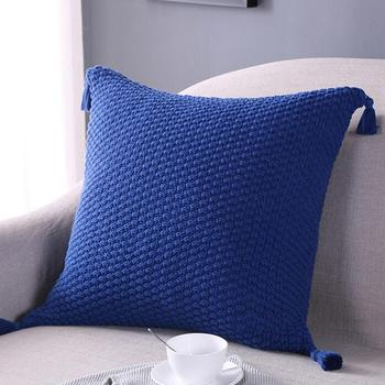 Pillowcases decorative pillows 45cm*45cm Knitting Fashion Throw Pillow Tassels Cases Cafe Sofa Cushion Cover Home Decor  july 27 tassels pillow
