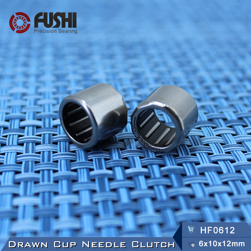 HF0612 Bearing 6*10*12 mm ( 4 PCS ) Drawn Cup Needle Roller Clutch HF061012 Needle Bearing na4910 heavy duty needle roller bearing entity needle bearing with inner ring 4524910 size 50 72 22