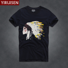 Novelty Design Brand Summer Men's T Shirts Short Sleeve 100% Cotton T-shirts for man HCOT slim fit male Top Tees