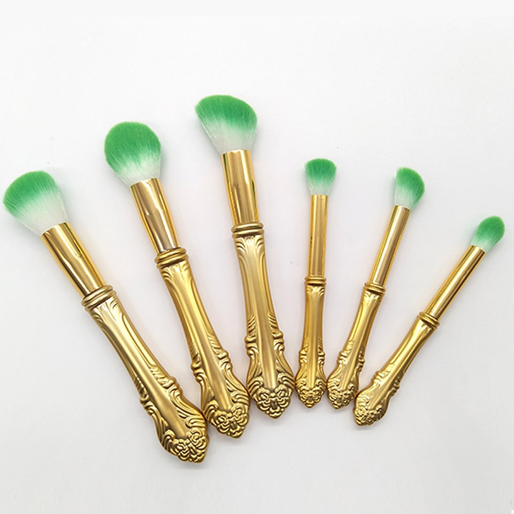 VANDER 6pcs Gold Makeup Brush Professional Cosmetic Kits Brushes Foundation maquiagem Makeup Brush Tools