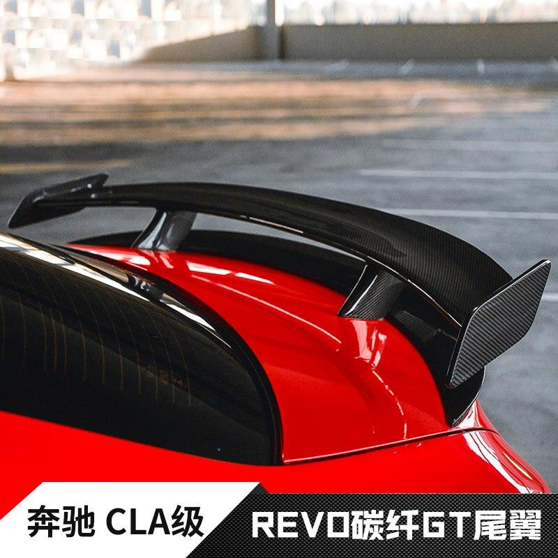 GT Spoiler Wing Lid For Mercedes - Benz CLA CLASS W117 CLA45 Carbon Fiber Rear Trunk Spoiler 2013 2014 2015 2016 цены онлайн