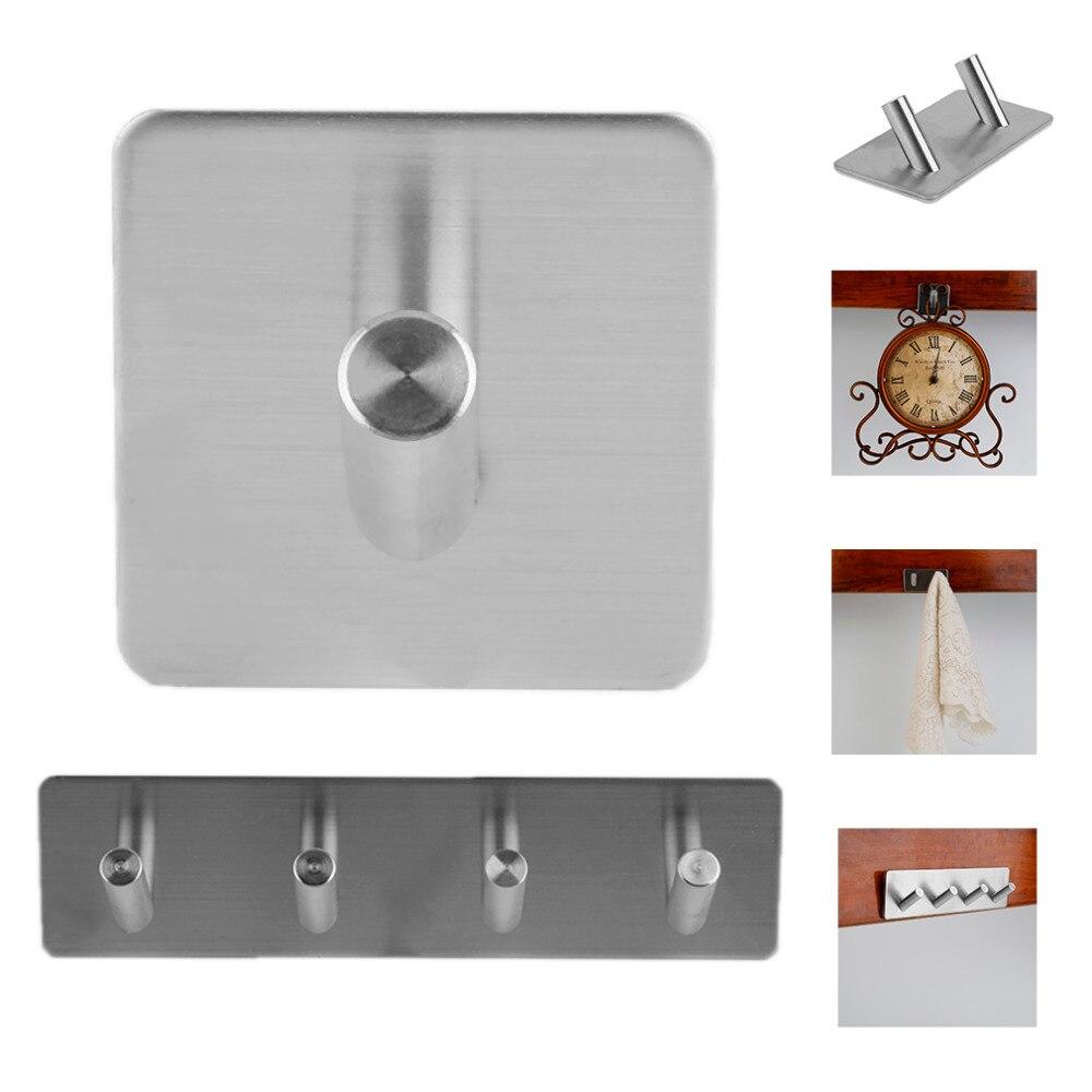 Новинка 304, нержавеющая сталь, 3 м, самоклеющийся крючок, вешалка для ключей, для ванной, кухни, полотенец, вешалка, настенное крепление, на липучке, вешалка