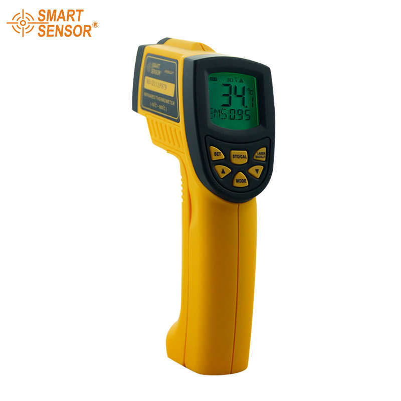 AR862A+ Digital Non-Contact Infrared IR Thermometer Laser Infrared Thermometer -50 to 900 degree цена