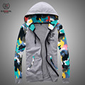 2015 New Fashion Autumn Mens Fleece Hoodies Men Jacket Tracksuits High-quality Spor Suit Men camouflage Slim Fit Men Sweatshirt