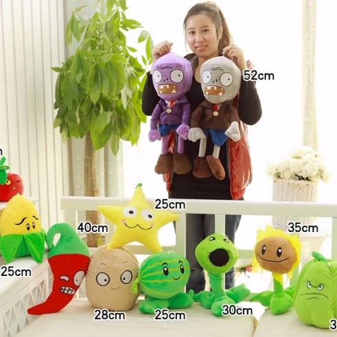Super simulation large Plants Zombies plush toy dolls stuffed soft toy -25~52cm ...