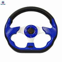 Universal 320mm PU Leather Racing Sports Auto Car Steering Wheel With Horn Button 12 5 Inches