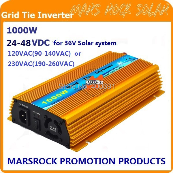 Promotion!! 1000W 36V Grid tie micro inverter, DC22V~45V, AC90V-140V or 190V-260V  for 1200W 36V Solar panel and Wind Power ! new grid tie mppt solar power inverter 1000w 1000gtil2 lcd converter dc input to ac output dc 22 45v or 45 90v