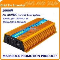 Promozione!! 1000 W 36 V legame di Griglia micro inverter, DC22V ~ 45 V, AC90V-o 190 V-260 V per 1200 W 36 V pannello Solare ed Eolica!
