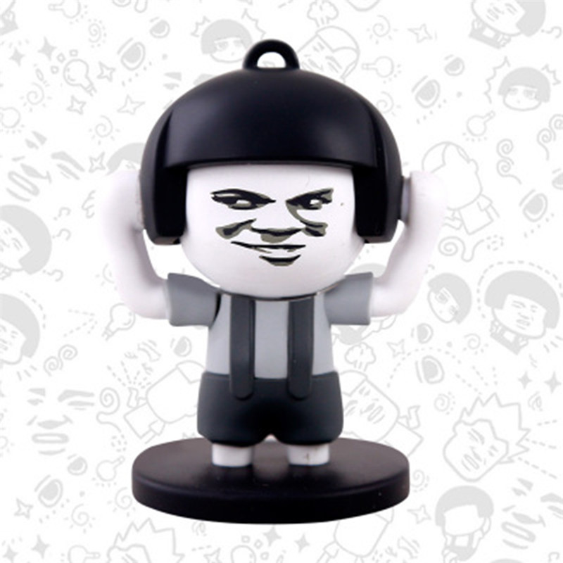 hot Super Funny Mushroom Head Change Face Expression Keychain Action Figure Toy