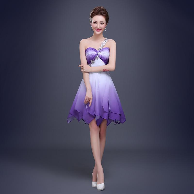 Lujo Vestido De Cóctel De Color Púrpura Oscuro Imágenes - Ideas para ...