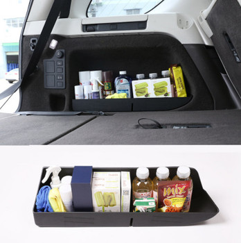 Black ABS Plastic Car Trunk Storage Box Tray For Land Rover Discovery 5 LR5 2017 2018 Car Accessories