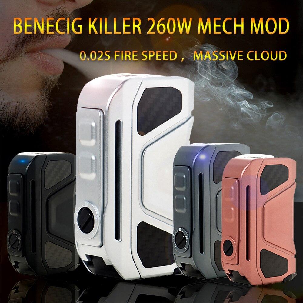 D'origine Benecig Tueur 260 w mech mod vaporisateur Cigarette Électronique Boîte Mod Double 18650 Batterie 0.02 s Feu Vitesse e-cigarette