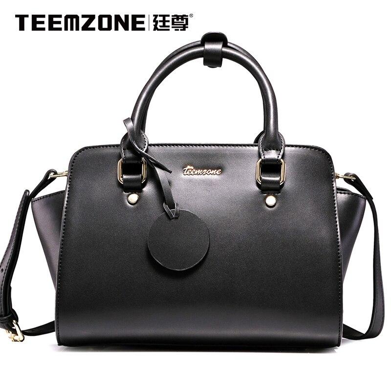 ФОТО Teemzone - New 2016 Genuine Leather Women Bag Handbags & Crossbody Bags Handtassen Ladies Totes with Single Shoulder Belt J25