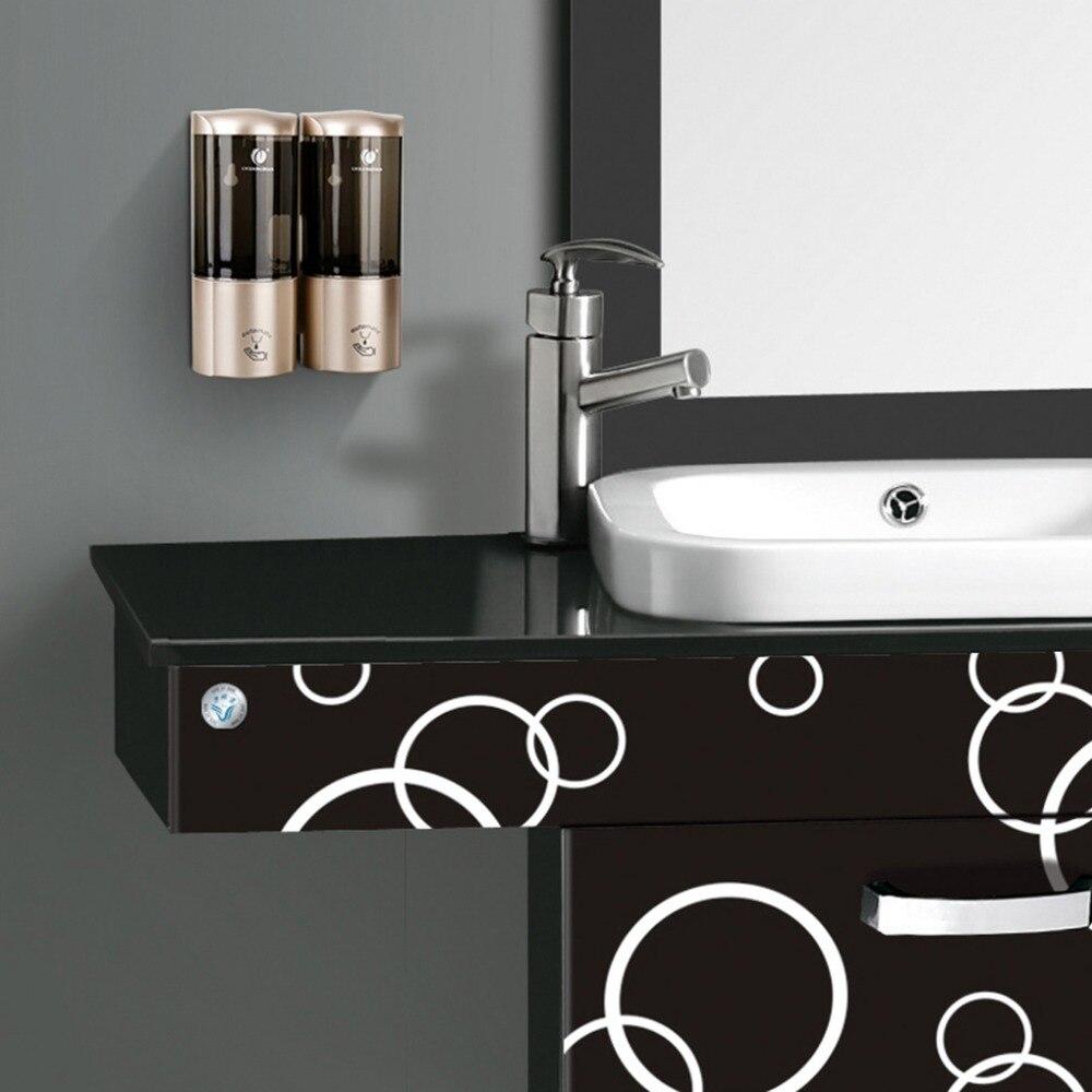 Soap Dispenser 500ml*2 Automatic Soap Dispenser Smart Sensor Touchless Infrared ABS Soap Dispenser Wall Shampoo Box Bathroom - 6