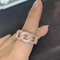 Размер 5 10, супер звезда, винтажная мода, ювелирные изделия из стерлингового серебра 925 пробы и розового золота, Pave 5A CZ, Женское Обручальное ко