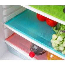 Hot 4 unids / set 29 cm * 45 cm moda cojín del refrigerador antibacteriano antifouling absorción del moho del moho almohadilla del refrigerador