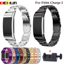 Metal Strap For fitbit charge 2 band strap Screwless Stainless Steel Bracelet Fitbit charge2 Wristbands Replace Accessories