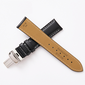 Image 4 - 19mm Watchbands Genuine Leather 20mm Black Watch Accessories Watch Bracelet Steel Buckle Watch Band Strap for Tissot 1853 T095
