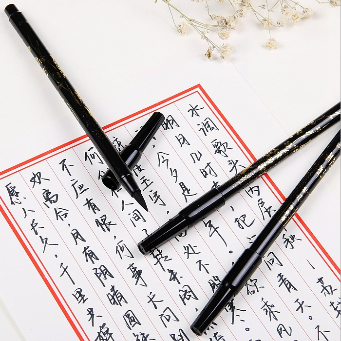 2pcs Set Creative Soft Brush Fineliner Calligraphy Twin