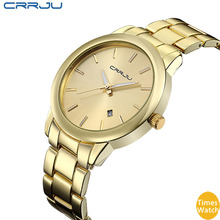 2016 New Full Steel Gold Mens Watches Top Brand Luxury Japan Quartz Movt Rose Gold Relogio Women Montre Homme With Calendar