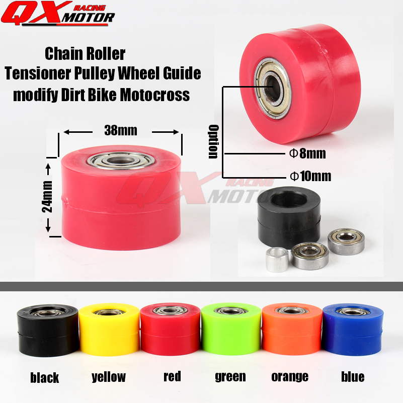 Chain Roller Tensioner Pulley Wheel Guide For CRF YZF RMZ KLX KAYO BSE Dirt bike Motocross Enduro Motorcycle Free shipping Chain Roller Tensioner Pulley Wheel Guide For CRF YZF RMZ KLX KAYO BSE Dirt bike Motocross Enduro Motorcycle Free shipping