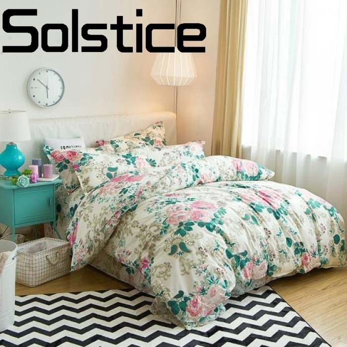 Solstice Quilt-Cover Pillow-Case Bedding Bed-Sheets Reactive-Printed Home-Textile Comfortable
