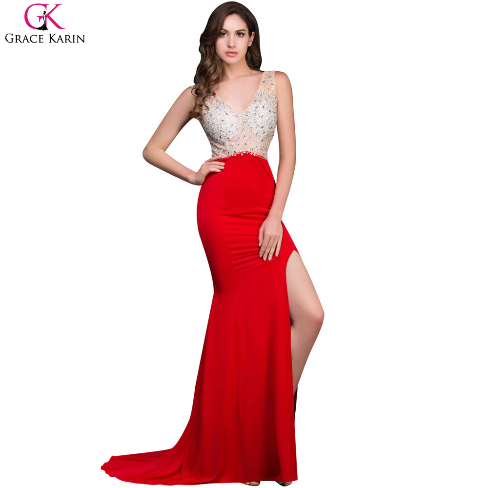 Popular Mermaid Red Evening Dress-Buy Cheap Mermaid Red Evening ...