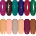 FashionStory Esmalte de Uñas de Gel UV Y LED de Colores Brillantes Colores 5 ML dr10