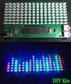 RGB 8*16 Audio Spectrum Analyzer medidor de Nivel LED de Música MP3 PC Amplificador de Audio Indicador Kits DIY envío libre