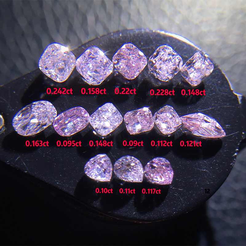 certified carat clarity light very pink radiant shape gia diamond
