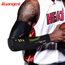 Kuangmi 1 pc Crashproof Basketball Elbow Pad Brace Support Elastic Sports Protector Arm Warmer Guards Sleeve Dropshipping