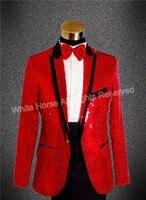 Red blazer men sequin blazer men blazer slim fit mens blazer jacket mens colored suits red suit jacket