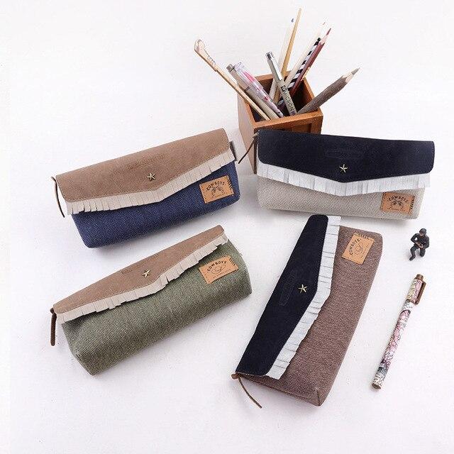 Stationery Denim Pencil Case school Pencil Bag for school pencil-case Office School Supplies Pens Pencils Writing Supplies Gift