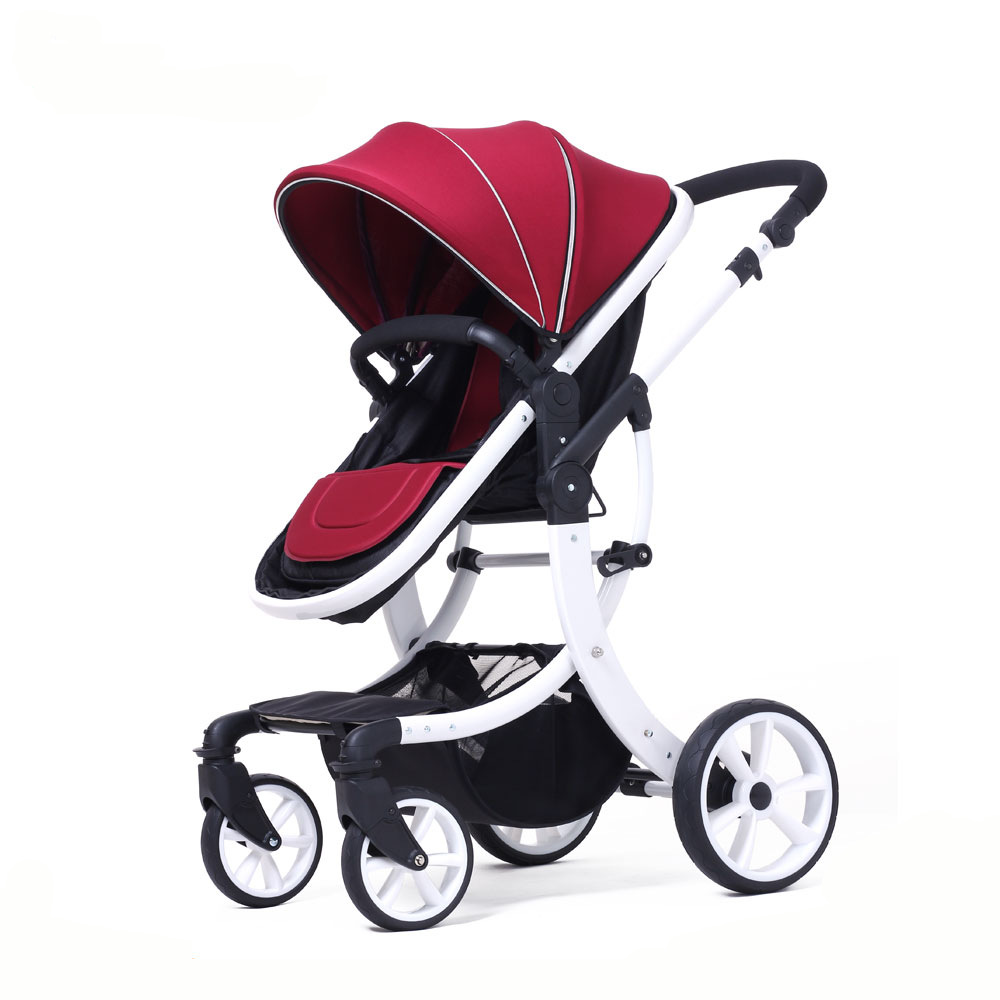 цена на Four Wheels Stroller Baby stroller export four seasons folding shock absorber sitting lie trolley Baby Stroller