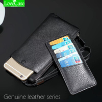 100% Genuine leather phone bag Universal 1.0~6 For Samsung S4 S5 S6 S7 S8 edge note5 J5 J7 C5 C7 A5 wallet purse phone cases